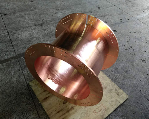 The machining of the coils of copper coils