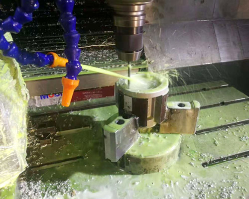 Machining of connecting four axes CNC
