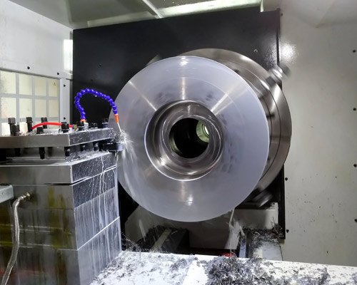 CNC lathe machining of aircraft die parts with diameter of 650mm