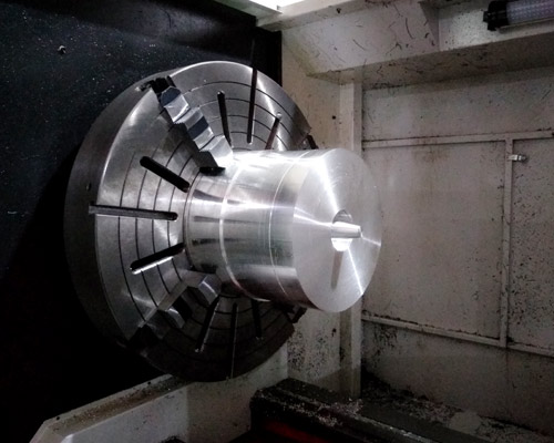CNC turning of non - standard shaped conical aluminum parts for drawing customization